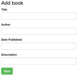 Imagem do formulário de adição/edição