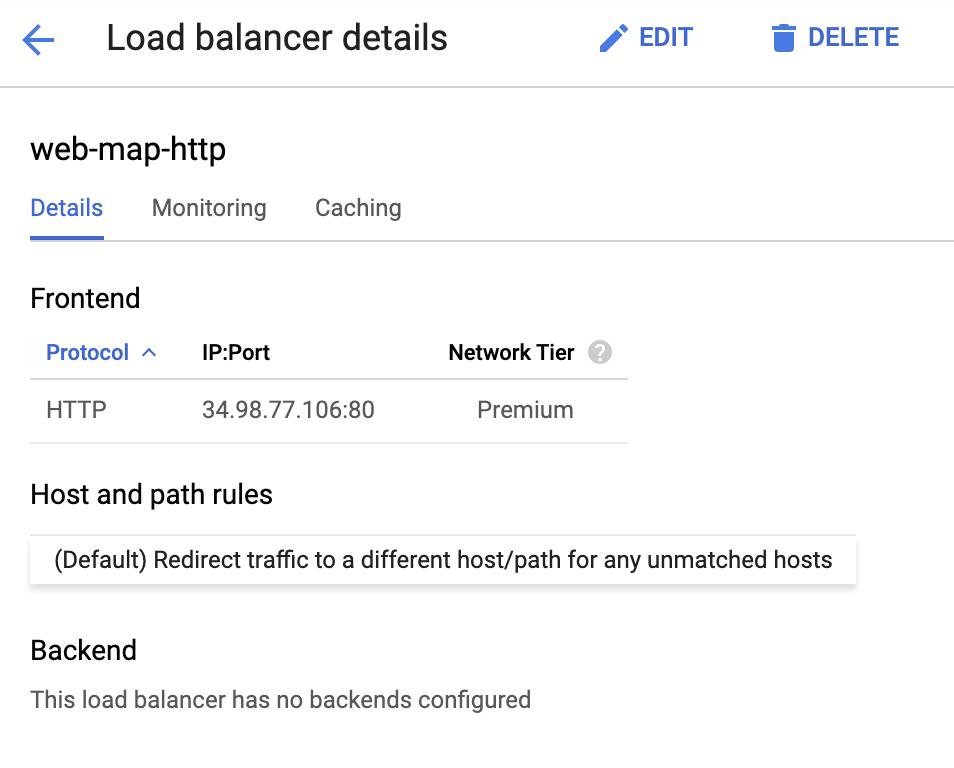 Balanceador de cargas de HTTP