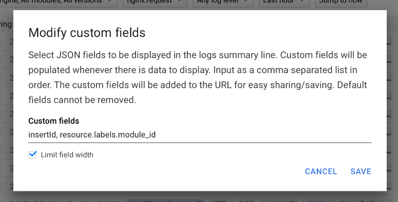 Add JSON field to summary line