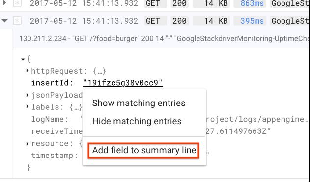 Add field to summary line