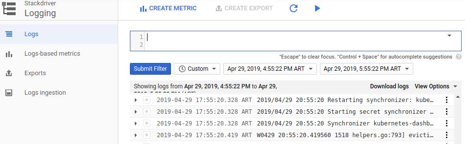 La interfaz de usuario muestra las opciones de filtros avanzados.