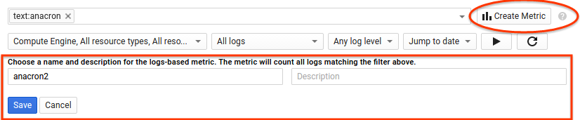 Create a logs-based metric