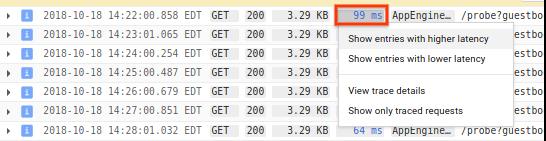 Mostrar opciones de latencia