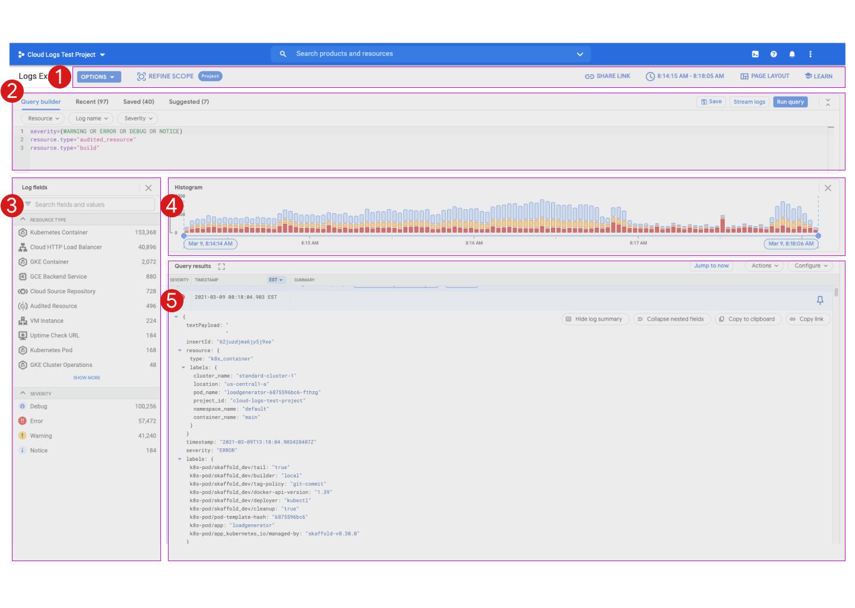 Interface do usuário do Explorador de registros