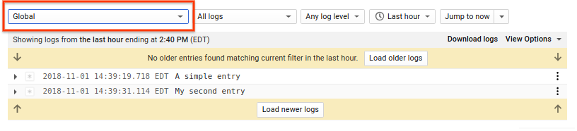 Legacy Logs Viewer Global
