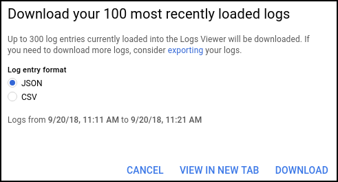 Viewing logs | Stackdriver Logging | Google Cloud