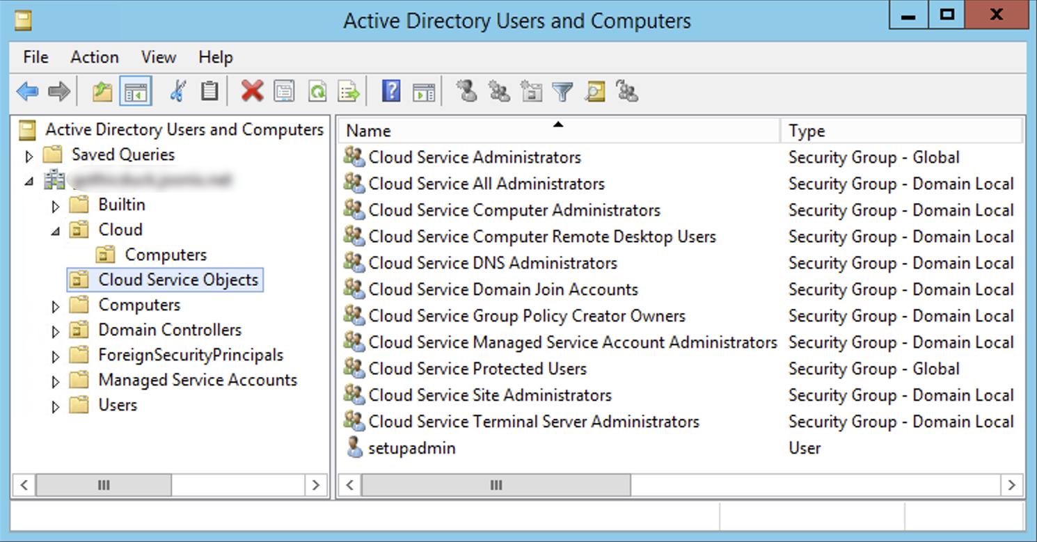UO de objetos de servicio de Cloud