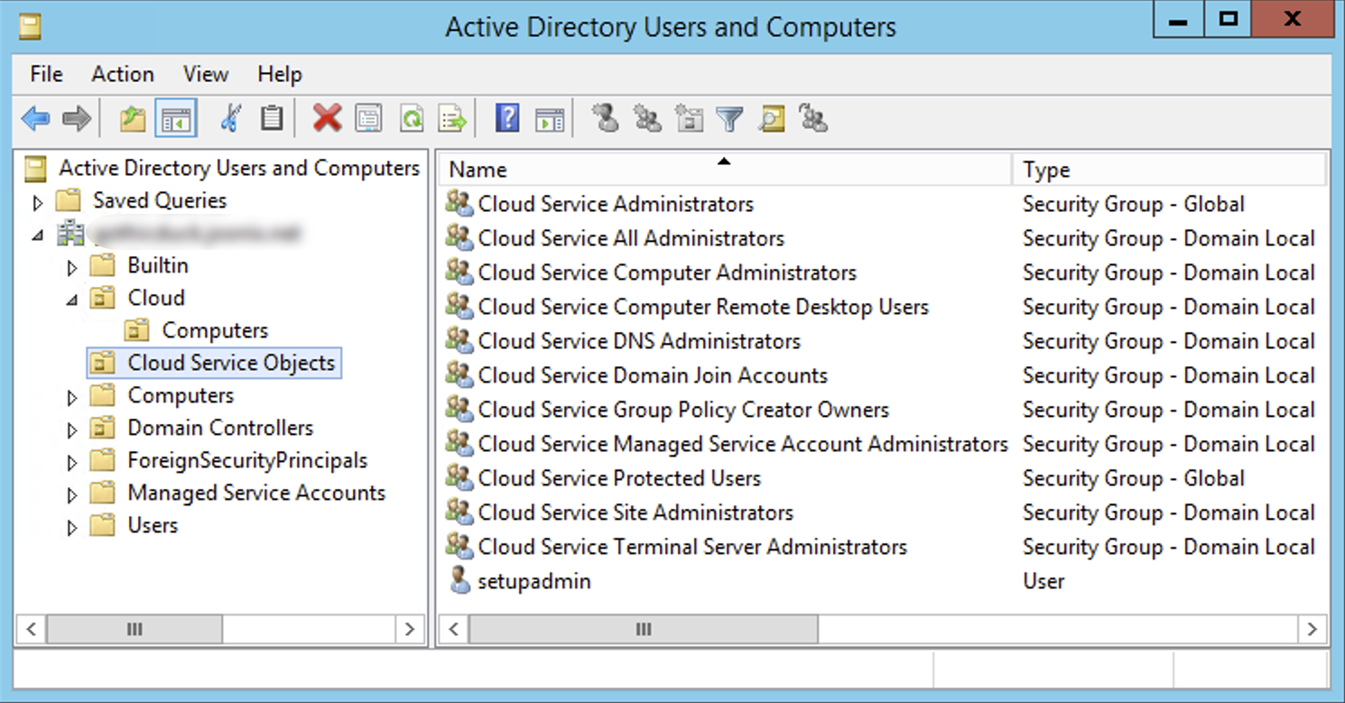 UO de objetos de serviço do Cloud