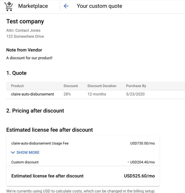 example custom offer
