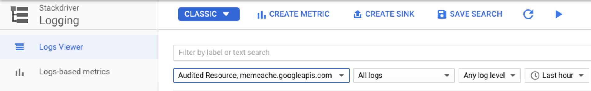 Captura de tela do visualizador de registros