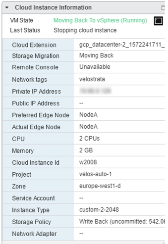 Screenshot of Cloud Instance Information (click to enlarge)
