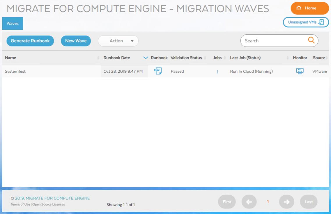 """作业启动后的""""波次""""(Waves) 屏幕,点击右侧的最后一个图标(眼睛图标)即可显示详细信息"""