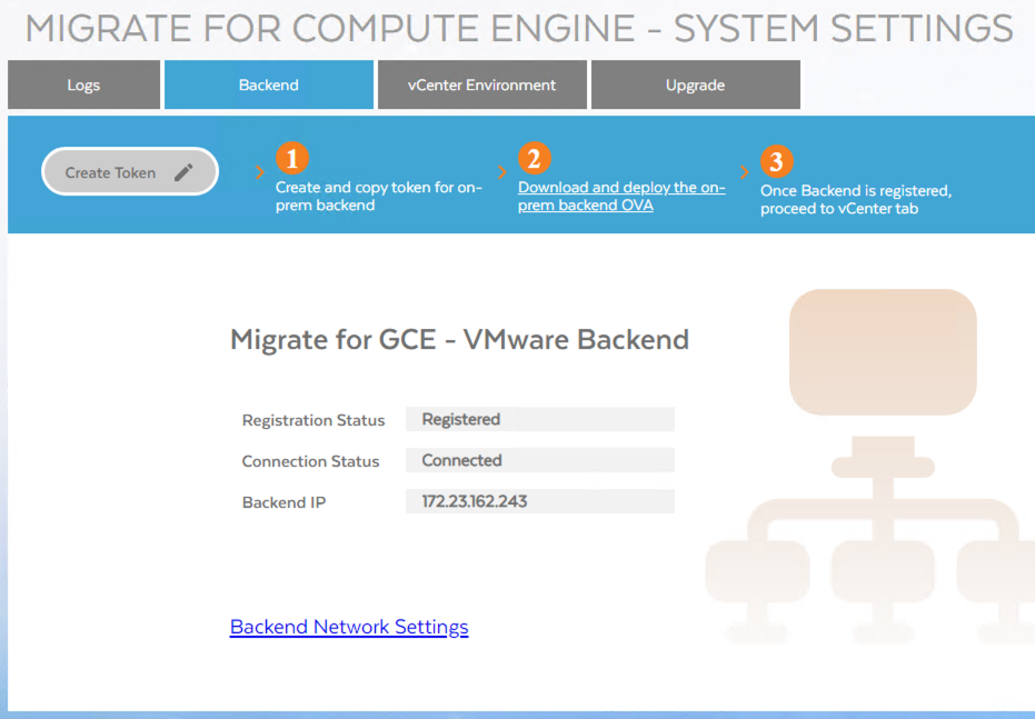 Screenshot of a registered and connected appliance(click to enlarge)