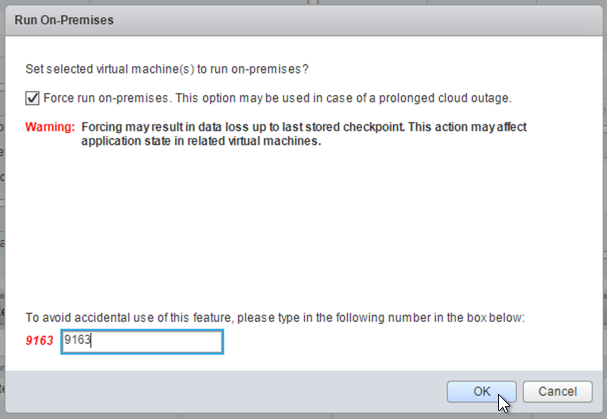 Screenshot of Run on Premises dialog box (click to enlarge)