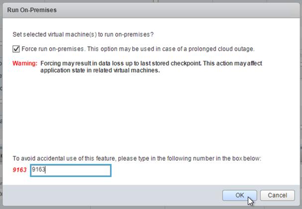 Captura de pantalla del cuadro de diálogo Run On-Premises (Ejecutar en la ubicación local); haz clic para ampliar