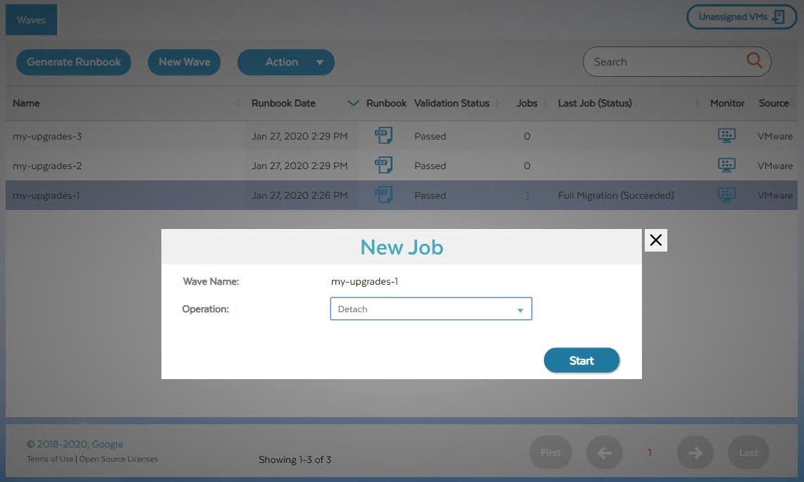 """Screenshot des Dialogfelds """"Neuer Job"""" zum Trennen (zum Vergrößern klicken)"""