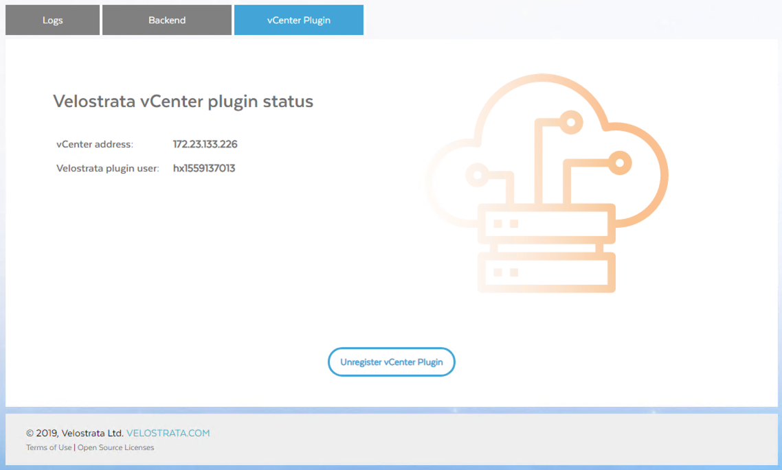 Screenshot showing a registered plugin (click to enlarge)