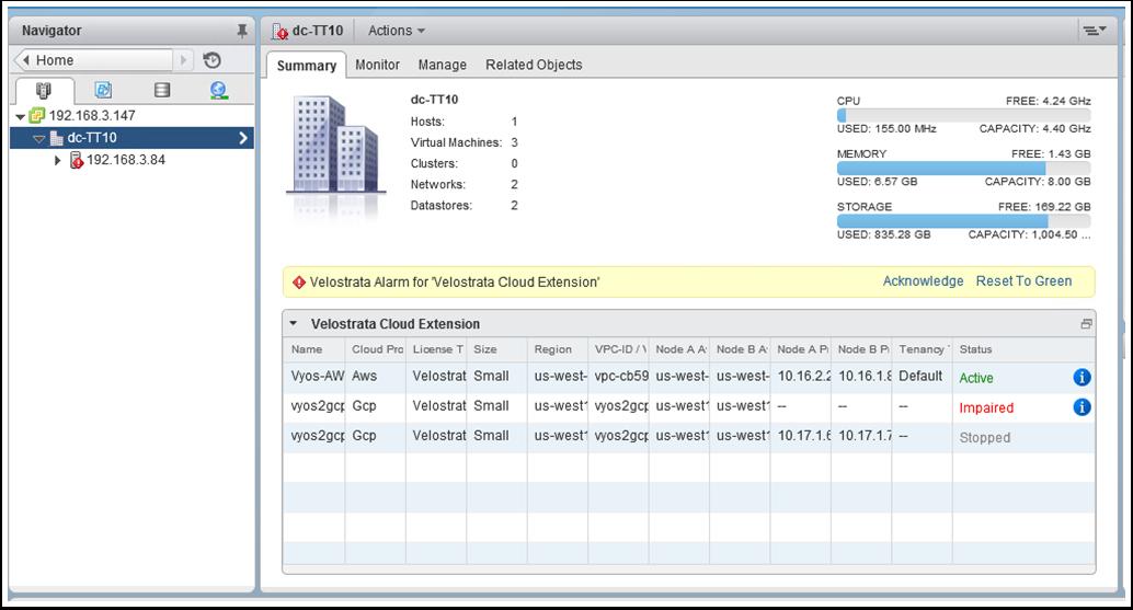 Screenshot of Virtual Datacenter Summary (click to enlarge)