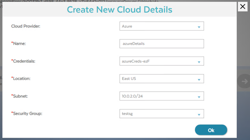 Screenshot of Migrate for Compute Engine Cloud Details (click to enlarge)