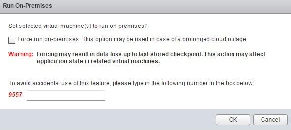 Screenshot of Run on Premises dialog box (click to enlarge)