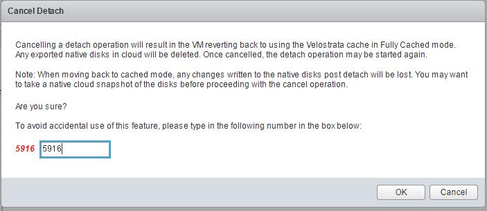 Captura de tela da caixa de diálogo Cancelar separação (clique para ampliar)