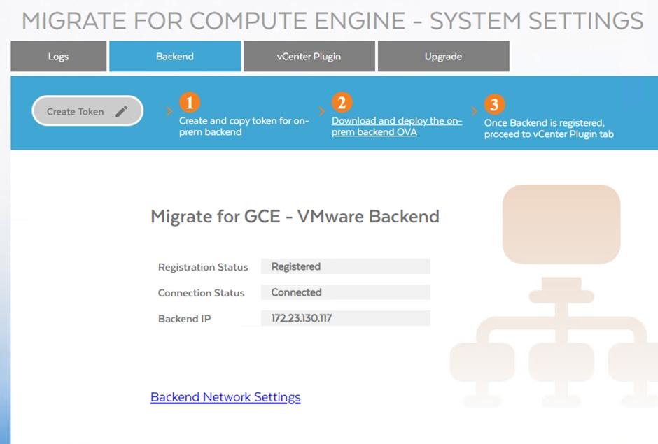 Captura de pantalla de un dispositivo registrado y conectado (haz clic para ampliar)