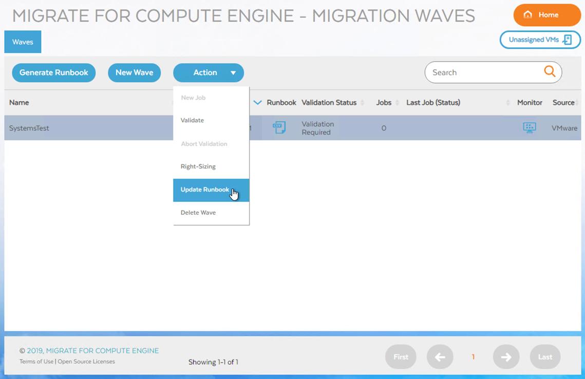 Bildschirm mit einer VM, die für die Trennung bereit ist (zum Vergrößern klicken)