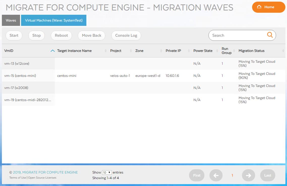 通过 Wave 界面监控波次进度的详细视图
