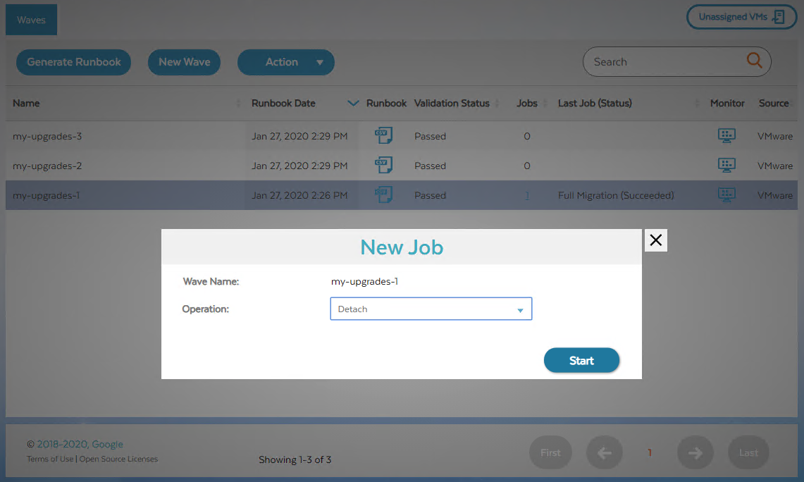 Screenshot of new job dialog to detach (click to enlarge)