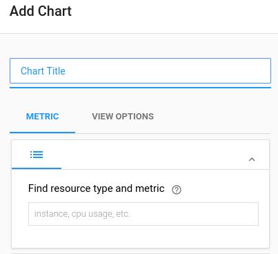 Add chart blank