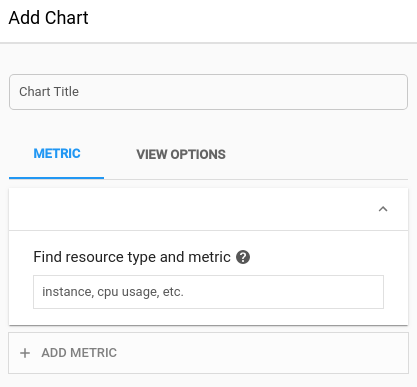 Display the add chart dialog with default settings.