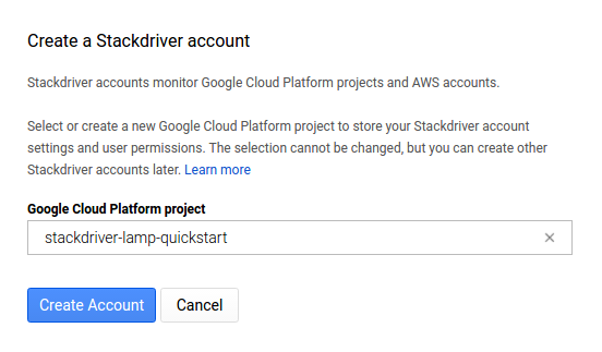 Create a Stackdriver Account