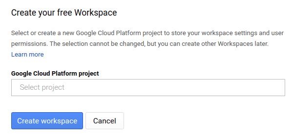 Criar espaço de trabalho