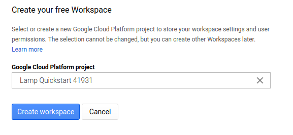 Create your free Workspace