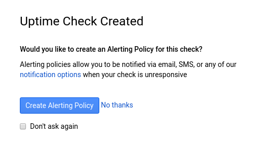 Do you want an alerting policy
