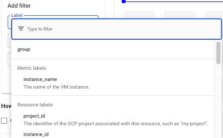 Beispiel für eine Liste mit Filterlabels.