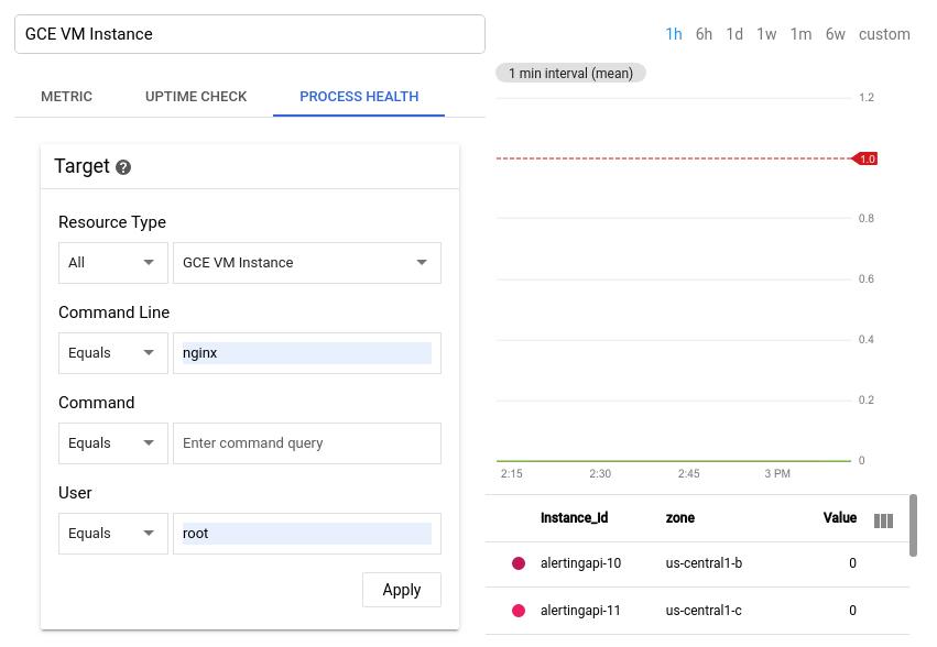 Nutzer als Root für nginx anzeigen.