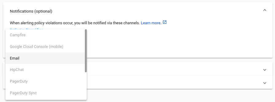 Select notification channel