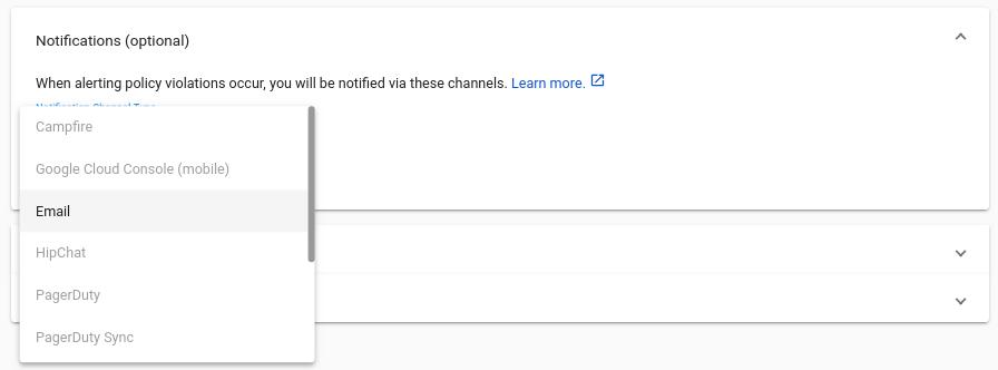 Selecciona un canal de notificación
