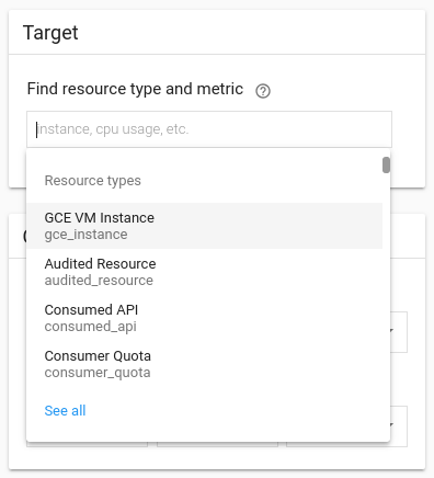 Select resource type