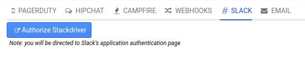 Notification setup for Slack.