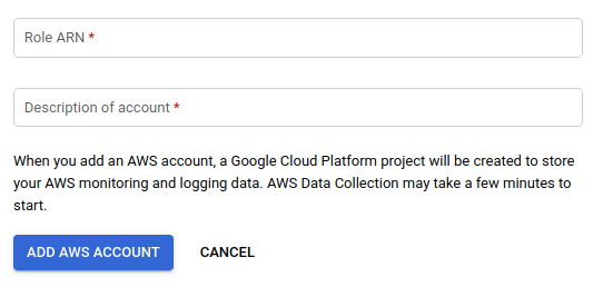 Monitoring AWS monitored accounts.