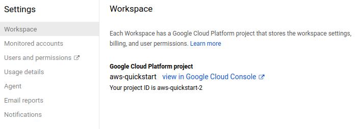 Workspace Settings