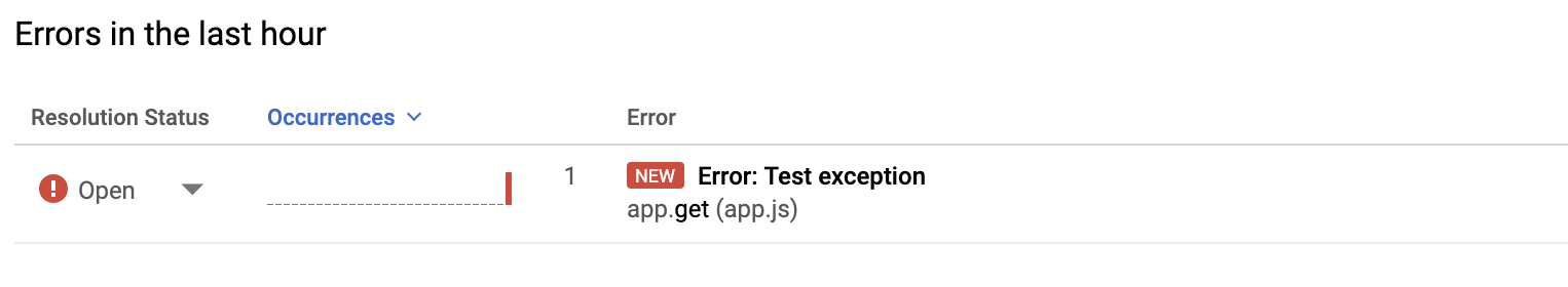 Error message from Error Reporting.