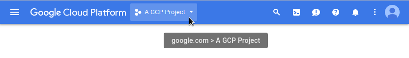 Select a GCP project.