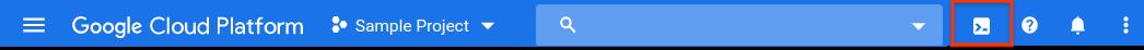 Screenshot: Cloud Shell aktivieren