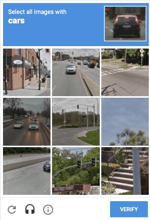 Exemple de test CAPTCHA