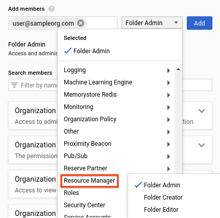 Creating and Managing Folders | Resource Manager