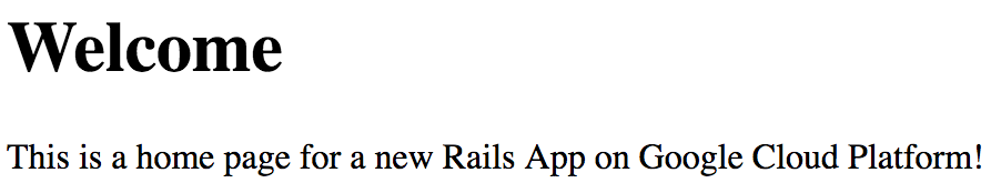 Running Rails 5 on App Engine flexible environment | Ruby
