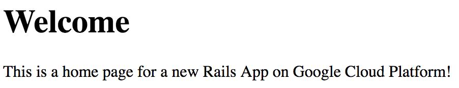 Captura de pantalla de la app de Rails nueva en ejecución